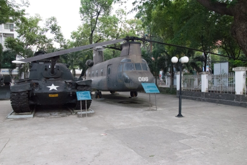 Some exhibits of the war remnants museum un HCMC.